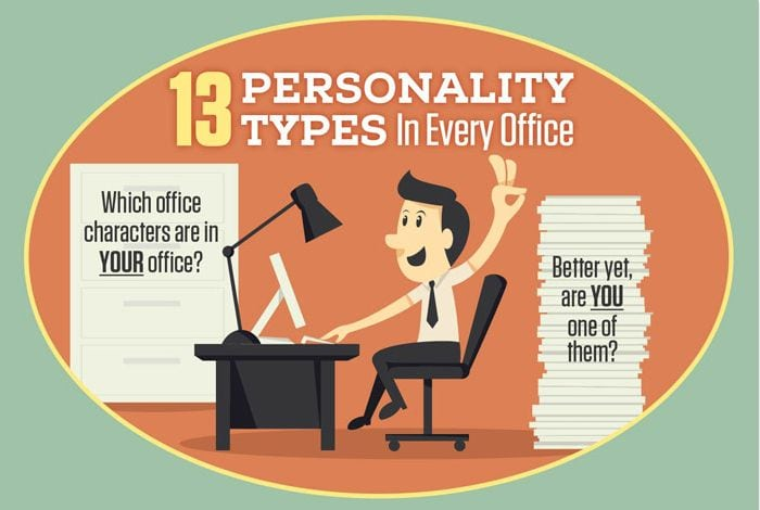 Photo of 13 Office Personality Types [INFOGRAPHIC]