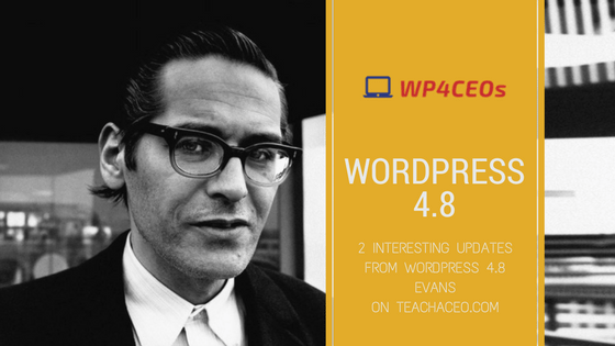 Photo of 2 Interesting Updates from WordPress 4.8 Evans