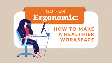 Photo of Go for Ergonomic: How to Make a Healthier Workspace- [Infographic]